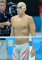 August 02, 2012..Laszlo Cseh set to compete in Men's 200 Individual Medley Final at the Aquatics Center on day six of 2012 Olympic Games in London, United Kingdom.