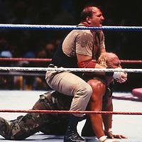 Sergeant Slaughter Hulk Hogan 1990                                          Photo By John Barrett/PHOTOlink