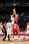 Real Madrid and Crvena Zvezda Telekom during Euroligue Basketball at Barclaycard Center in Madrid, October 22, 2015<br /> Gustavo Ayon and Guduric.<br /> (ALTERPHOTOS/BorjaB.Hojas)
