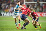 Argentina vs Scotland during their Pool D match as part of the HSBC Hong Kong Rugby Sevens 2017 on 07 April 2017 in Hong Kong Stadium, Hong Kong, China. Photo by Weixiang Lim / Power Sport Images