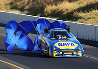 Jul 29, 2017; Sonoma, CA, USA; NHRA funny car driver Ron Capps during qualifying for the Sonoma Nationals at Sonoma Raceway. Mandatory Credit: Mark J. Rebilas-USA TODAY Sports