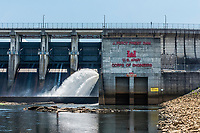 J Percy Priest Dam at Stones River, Tennessee, USA.