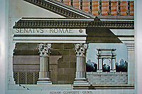 Roman Composite Order, 1896. Student drawing M. Katherine Lines