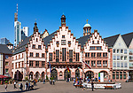 Germany, Hesse, Frankfurt on the Main: The Roemer - the town's cityhall and landmark | Deutschland, Hessen, Frankfurt am Main: der Roemer -Rathaus und Wahrzeichen der Stadt