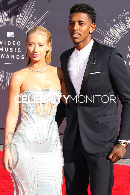 LOS ANGELES, CA, USA - AUGUST 24: Iggy Azalea, Nick Young at the 2014 MTV Video Music Awards held at The Forum on August 24, 2014 in the Los Angeles, California, United States. (Photo by Xavier Collin/Celebrity Monitor)