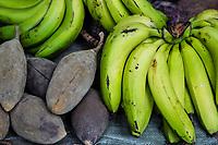 Tanzania.  Mto wa Mbu. Baobab Fruit and Bananas.
