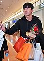 Korean actor Park Seo-joon arrives at Tokyo International Airport
