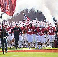 STANFORD, CA - September 15, 2018: David Shaw, Colby Parkinson, Drew Dalman, Nate Herbig at Stanford Stadium. The Stanford Cardinal defeated UC Davis, 30-10.