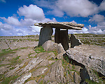 County Clare, Ireland<br /> Poulnabrone Dolemen, a tomb portal (2500-2000 B.C.) on the limestone plateau of The Burren