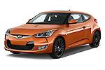 2016 Hyundai Veloster 1.6-Manual 4 Door Hatchback Angular Front stock photos of front three quarter view