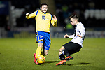 St Mirren v St Johnstone…..04.03.20   Simple Digital Arena   SPFL<br />Drey Wright is tackled by Calum Waters<br />Picture by Graeme Hart.<br />Copyright Perthshire Picture Agency<br />Tel: 01738 623350  Mobile: 07990 594431