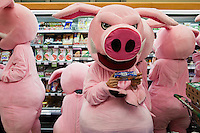 Pigs Against Moscow Supermarket
