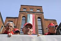 - Milan, general strike called by CGIL trade union, protest outside the House of Labor<br /> <br /> - Milano, sciopero generale indetto dal sindacato CGIL, presidio davanti alla Camera del Lavoro