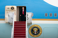 President Trump Returns to the White House<br /> <br /> President Donald J. Trump disembarks Air Force One on his arrival to Joint Base Andrews, Md., Thursday, Dec. 31, 2020, returning from his Christmas holiday in Palm Beach, Fla. (Official White House Photo by Tia Dufour)