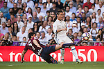 Cristiano Ronaldo of Real Madrid competes for the ball with Capa of SD Eibar during their La Liga match between Real Madrid CF and SD Eibar at the Santiago Bernabéu Stadium on 02 October 2016 in Madrid, Spain. Photo by Diego Gonzalez Souto / Power Sport Images
