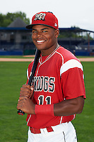 Batavia Muckdogs outfielder Stone Garrett (11) poses for a photo on July 8, 2015 at Dwyer Stadium in Batavia, New York.  (Mike Janes/Four Seam Images)z