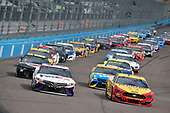 #11: Denny Hamlin, Joe Gibbs Racing, Toyota Camry FedEx Express and #22: Joey Logano, Team Penske, Ford Mustang Shell Pennzoil