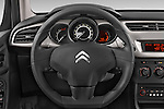 Car pictures of steering wheel view of a 2014 Citroen C3 Seduction 5 Door Hatchback 2WD Steering Wheel