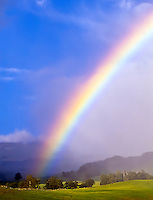 A rainbow over the Haleakala Ranch, Upcountry Maui.