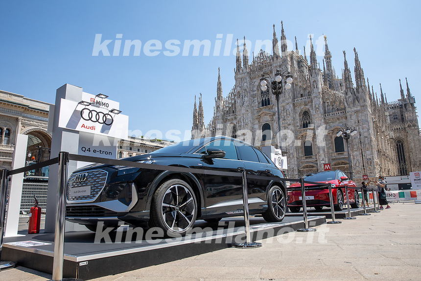 Audi Q4 E-tron  - MILANO, ITALY, the Milan Monza Motor Show, from 10th to 13th June 2021 in Milan and Monza and will present the news of the 60 participating car and motorcycle manufacturers. With a democratic format, in which brands will exhibit their cars on equal stands, MIMO wants to give a restart signal for the world of fair and the automotive sector, with a free access and safe exhibition.