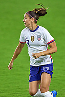 18th February 2021, Orlando, Florida, USA;  United States forward Alex Morgan (13) runs during a SheBelieves Cup game between Canada and the United States on February 18, 2021 at Exploria Stadium in Orlando, FL.