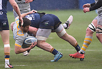14th February 2021; Sixways Stadium, Worcester, Worcestershire, England; Premiership Rugby, Worcester Warriors versus Wasps; Matt Kvesic of Worcester Warriors tackles Malakai Fekitoa of Wasps
