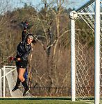 LITCHFIELD, CT-110620S13 — Northwestern's Meredith Zematis looks on as a shot by Litchfield's Ella Demers (16) sails into the net during their Berkshire League game Friday at Litchfield High School. <br /> Jim Shannon Republican-American