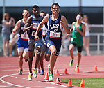 Liberty's Martin Ponce wins the boys 1600-meter title with a time of 4:19.83 during the NIAA state track championships at Carson High, in Carson City, Nev., on Saturday, May 24, 2014. (Las Vegas Review-Journal, Cathleen Allison)