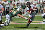 Oklahoma State Cowboys running back Chuba Hubbard (30) in action during the game between the OSU Cowboys and the Baylor Bears at the McLane Stadium in Waco, Texas.