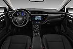 Stock photo of straight dashboard view of 2017 Toyota Corolla Lounge 4 Door Sedan Dashboard