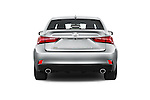 Straight rear view of 2015 Lexus LS 350 F Sport 4 Door Sedan Rear View  stock images
