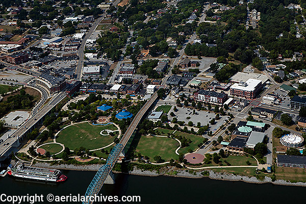 aerial photograph Coolidge Park, Northside community, Chattanooga, Tennessee