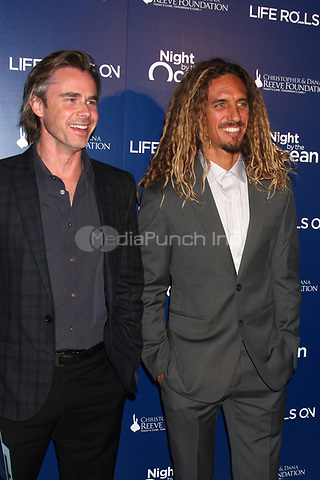 MARINA DEL REY, CA - NOVEMBER 10: Sam Trammell and Rob Machado at The Life Rolls On Foundation's 9th Annual Night by the Ocean at the Ritz-Carlton Hotel on November 10, 2012 in Marina del Rey, California. Credit: mpi21/MediaPunch Inc.