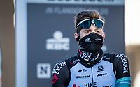 Luke Durbridge (AUS/BikeExchange) at the race start in Ypres<br /> <br /> 83rd Gent-Wevelgem - in Flanders Fields (ME - 1.UWT)<br /> 1 day race from Ieper to Wevelgem (BEL): 254km<br /> <br /> ©kramon
