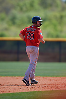 Boston Red Sox Kole Cottam (29) during a Minor League Spring Training game against the Tampa Bay Rays on March 25, 2019 at the Charlotte County Sports Complex in Port Charlotte, Florida.  (Mike Janes/Four Seam Images)