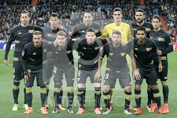 Sevilla's team photo during La Liga match. March 20,2016. (ALTERPHOTOS/Acero)