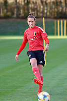 20201021 - TUBIZE , Belgium : Chloe Vande Velde gives a pass during a training session of the Belgian Women's National Team, Red Flames , on the 21st of October 2020 at Proximus Basecamp in Tubize. PHOTO: SPORTPIX.BE | SPP | SEVIL OKTEM