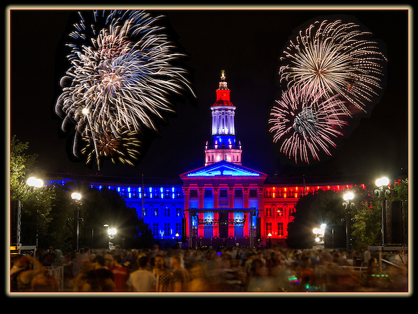 The Denver Courthouse and Independence Day fireworks.<br /> Click the above CONTACT button for inquiries about John's custom photo tours. Denver private tours.