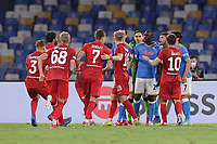 Spartak and Napoli players argue during the Europa league group C 2021/2022 football match between SSC Napoli and FC Spartak Moskva at Diego Armando Maradona stadium in Napoli (Italy), September 30th, 2021. <br /> Photo Cesare Purini / Insidefoto