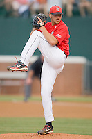 Starting pitcher Matt Carasiti #14 of the St. John's Red Storm in action against the Virginia Cavaliers at the Charlottesville Regional of the 2010 College World Series at Davenport Field on June 6, 2010, in Charlottesville, Virginia.  The Red Storm defeated the Cavaliers 6-5.   Photo by Brian Westerholt / Four Seam Images