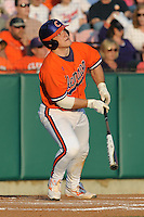 Clemson Tigers Designated Hitter Phil Pohl during the opener of the 2011 season against the Eastern Michigan Eagles at Doug Kingsmore Stadium, Clemson, SC. Clemson won 14-3. Photo By Tony Farlow/Four Seam Images.