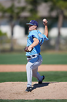 Tampa Bay Rays pitcher Paul Campbell (44) during a Minor League Spring Training game against the Minnesota Twins on March 15, 2018 at CenturyLink Sports Complex in Fort Myers, Florida.  (Mike Janes/Four Seam Images)