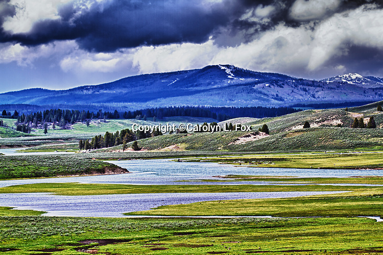 Geological features abound in Yellowstone National Park.