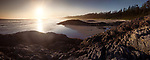 Pacific Rim National Park, panoramic sunset scenery of the sandy Long Beach. Pacific ocean shore at Green Point, Tofino, Vancouver Island, BC, Canada. Image © MaximImages, License at https://www.maximimages.com