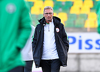 20190227 - LARNACA , CYPRUS : Swedish head coach of Nigeria Thomas Dennerby pictured during a women's soccer game between the Super Falcons of Nigeria and Austria , on Wednesday 27 February 2019 at the AEK Arena in Larnaca , Cyprus . This is the first game in group C for both teams during the Cyprus Womens Cup 2019 , a prestigious women soccer tournament as a preparation on the Uefa Women's Euro 2021 qualification duels. PHOTO SPORTPIX.BE | DAVID CATRY