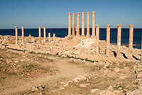 Sabratha, Libya, North Africa - Roman ruins.  Temple of Isis, 1st Century,  reconstructed 1920s.