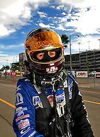 Oct. 31, 2008; Las Vegas, NV, USA: NHRA funny car driver Melanie Troxel during qualifying for the Las Vegas Nationals at The Strip in Las Vegas. Mandatory Credit: Mark J. Rebilas-