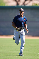 Cleveland Indians Will Benson (7) during an Instructional League game against the Los Angeles Dodgers on October 10, 2016 at the Camelback Ranch Complex in Glendale, Arizona.  (Mike Janes/Four Seam Images)