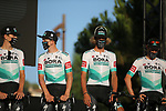 Bora-Hansgrohe on stage at the team presentation before the Tour de France 2020, Nice, France. 27th August 2020.<br /> Picture: ASO/Thomas Maheux   Cyclefile<br /> All photos usage must carry mandatory copyright credit (© Cyclefile   ASO/Thomas Maheux)