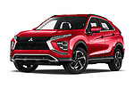 Stock pictures of low aggressive front three quarter view of 2021 Mitsubishi Eclipse-Cross-PHEV Intense-Edition 5 Door SUV Low Aggressive